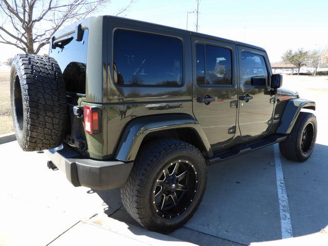 2015 Jeep Wrangler Unlimited Sahara CUSTOM WHEELS AND TIRES in McKinney, Texas 75070