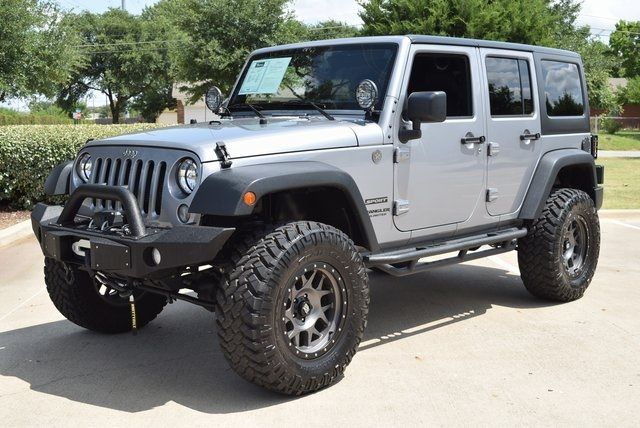 2015 Jeep Wrangler Unlimited Sport LIFTED W/CUSTOM WHEELS AND TIRES in McKinney Texas, 75070