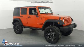 2015 Jeep Wrangler Unlimited Sport LIFT/CUSTOM WHEELS AND TIRES in McKinney Texas, 75070