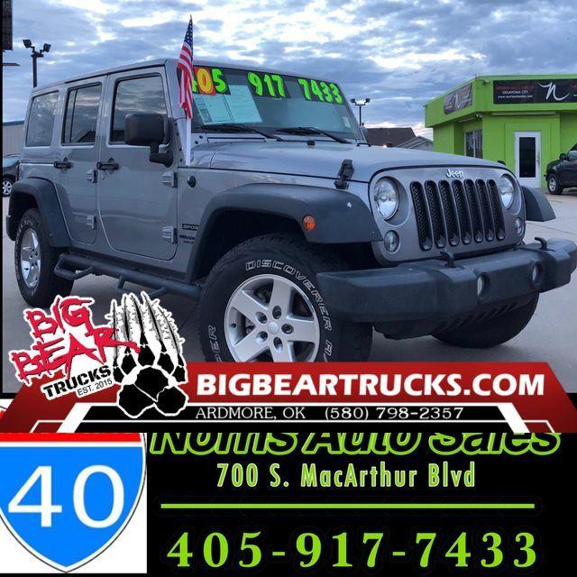 2015 Jeep Wrangler Unlimited Sport   Ardmore, OK   Big Bear Trucks (Ardmore) in Ardmore OK