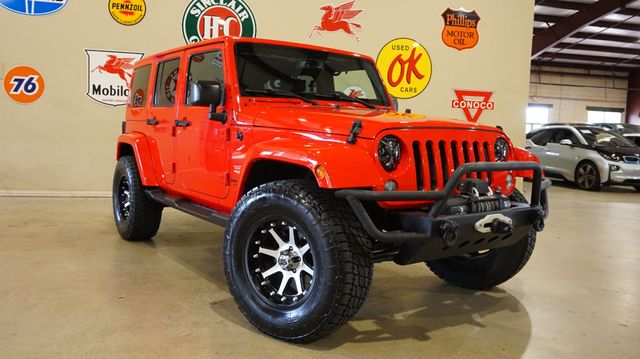 2015 Jeep Wrangler Unlimited Sahara 4X4 LIFTED,BUMPERS,NAV,HTD LTH,37K
