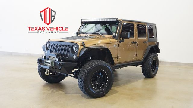 2015 Jeep Wrangler Unlimited Sport 4X4 AUTO,LIFTED,BUMPERS,LED'S,27K