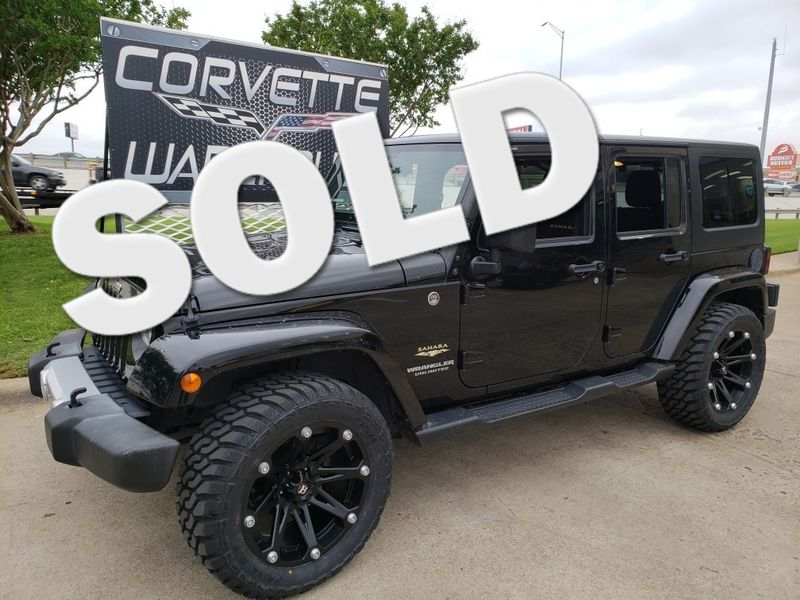 2015 Jeep Wrangler Unlimited Sahara Auto, CD, Ballistic Black Alloys 65k! | Dallas, Texas | Corvette Warehouse