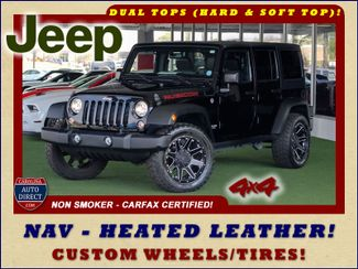 2015 Jeep Wrangler Unlimited Rubicon 4x4- NAV- HEATED LEATHER- CUSTOM WHEELS! Mooresville , NC