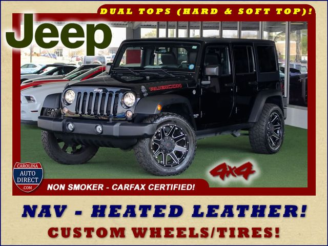 2015 Jeep Wrangler Unlimited Rubicon 4x4- NAV- HEATED LEATHER- CUSTOM WHEELS! Mooresville , NC 0