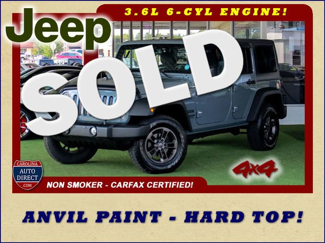2015 Jeep Wrangler Unlimited Sport 4X4 - ANVIL PAINT - BLACK 3-PIECE HARD TOP Mooresville , NC 0