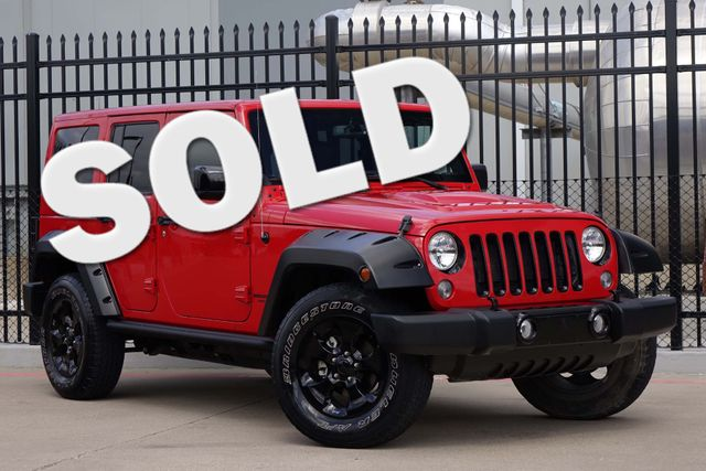 2015 Jeep Wrangler Unlimited Altitude * NAV * Leather * HARD TOP * Alpine Audio Plano, Texas