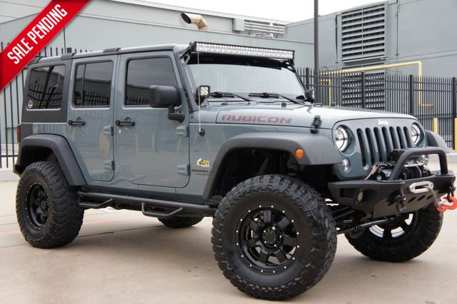 2015 Jeep Wrangler Unlimited Rubicon * AEV LIFT * Navi * 35s * Leather * LED's in Plano, Texas 75075