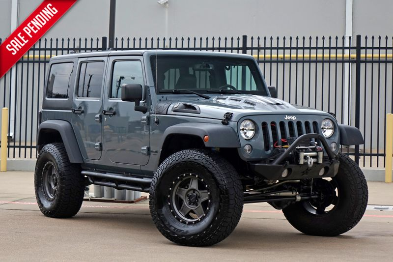2015 Jeep Wrangler Unlimited Rubicon* Lifted* Custom* Hard Top* Leather***   Plano, TX   Carrick's Autos in Plano TX
