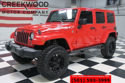 2015 Jeep Wrangler Unlimited Sahara X 4x4 Lift Leather Nav XD 20s New Tires RED in Searcy, AR