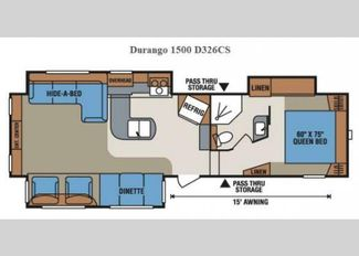 2015 Kz Durango D326CS Erie, Colorado 36