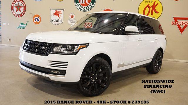 2015 Land Rover Range Rover S/C MSRP 112K,PANO ROOF,360 CAM,BLK 21'S,48K