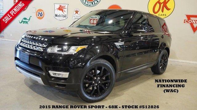2015 Land Rover Range Rover Sport HSE PANO ROOF,NAV,HTD/COOL LTH,BLK 20'S,68K