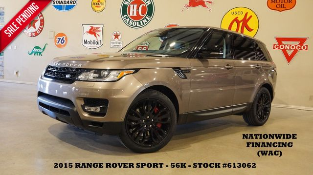 2015 Land Rover Range Rover Sport S/C PANO ROOF,HTD/COOL LTH,BLK 21'S,56K