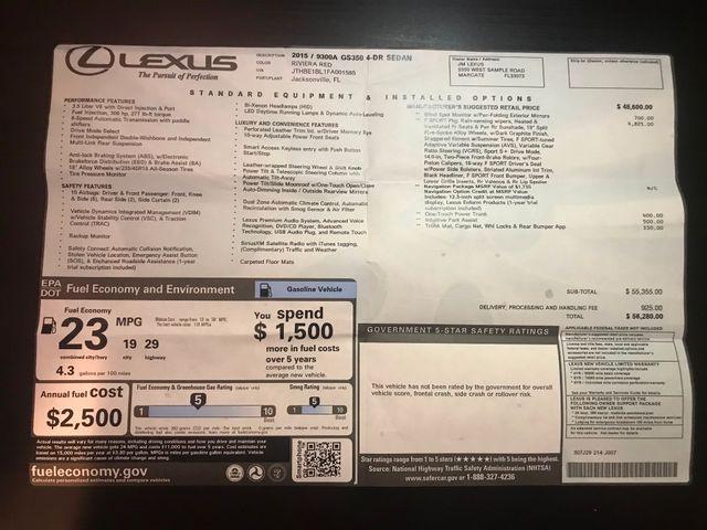 2015 Lexus GS 350 F SPORT Jacksonville , FL 29