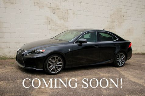 2015 Lexus IS350 F-Sport AWD w/Navigation, Backup Cam, LED Headlights, Bluetooth Audio & 18