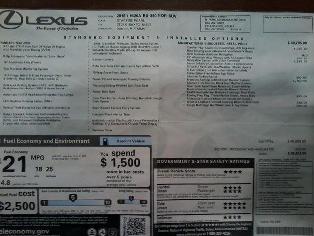 2015 Lexus RX 350 5 Door Boerne, Texas 43