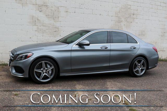 2015 Mercedes-Benz C300 4Matic AWD Luxury Car w/Sport Pkg, LED Headlights, Heated/Cooled/Memory Seats & AMG Rims