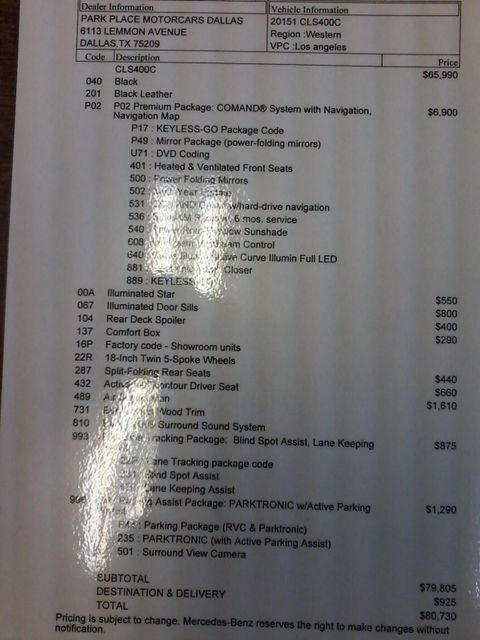 2015 Mercedes-Benz CLS 400 MSRP$80,730.00 San Antonio, Texas 48