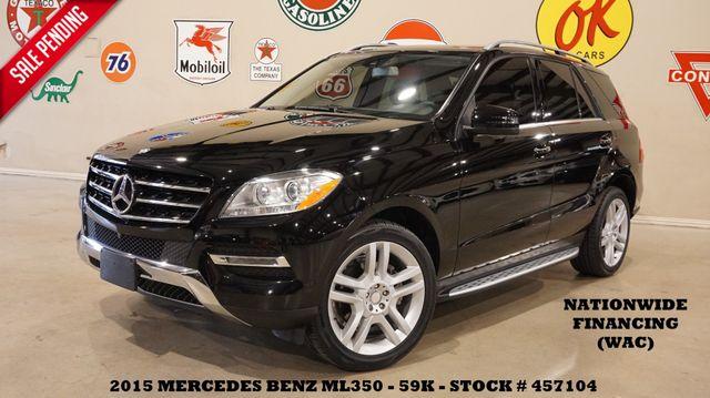 2015 Mercedes-Benz ML 350 SUNROOF,NAV,360 CAM,HTD LTH,20'S,59K in Carrollton, TX 75006