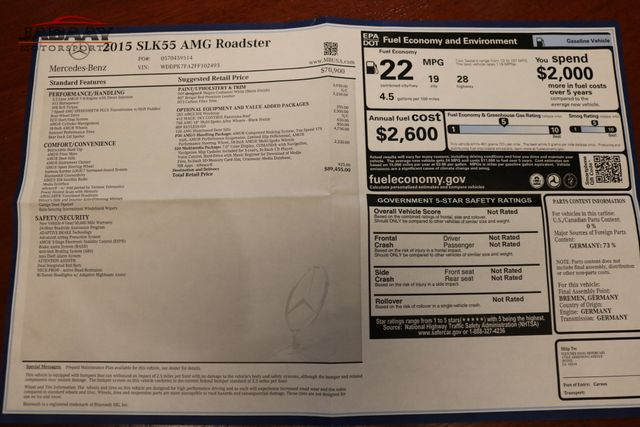 2015 Mercedes-Benz SLK 55 AMG Merrillville, Indiana 51