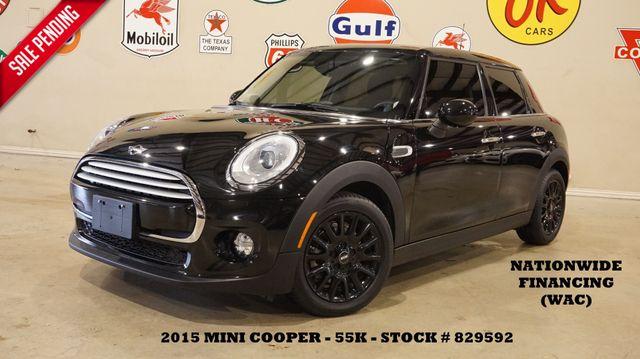 2015 Mini Cooper Hardtop AUTO,HUD,PANO ROOF,NAV,HTD CLOTH,55K