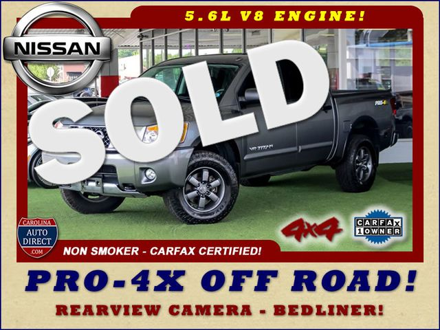 2015 Nissan Titan PRO-4X Crew Cab 4x4 - REARVIEW CAMERA - BEDLINER! Mooresville , NC 0