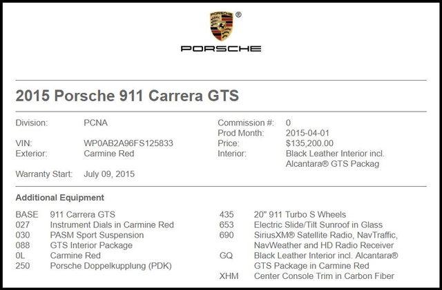 2015 Porsche 911 in Carrollton TX