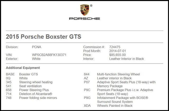 2015 Porsche Boxster in Carrollton TX