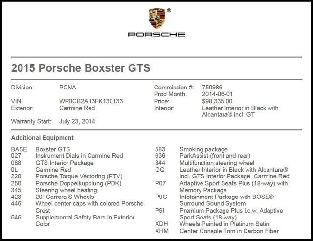 2015 Porsche Boxster GTS-[ 2 ]