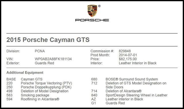 2015 Porsche Cayman GTS-[ 2 ]