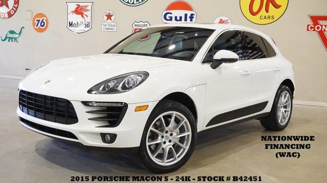 2015 Porsche Macan S AWD PANO ROOF,NAV,BACK-UP,HTD/COOL LTH,BOSE,24K