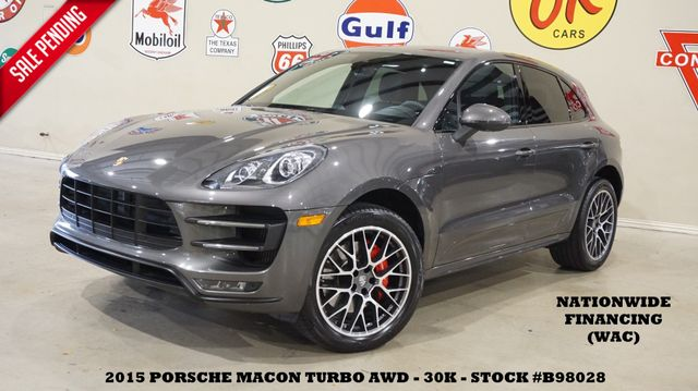 2015 Porsche Macan Turbo AWD PANO ROOF,NAV,BACK-UP,HTD/COOL LTH,30K