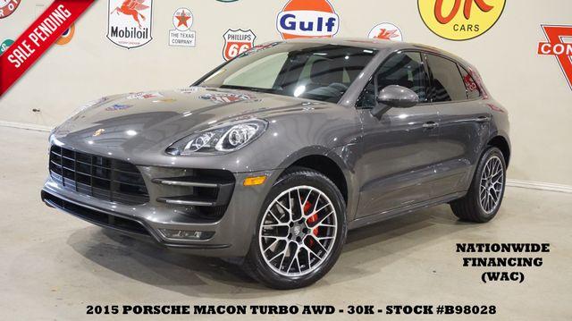 2015 Porsche Macan Turbo AWD PANO ROOF,NAV,BACK-UP,HTD/COOL LTH,30K