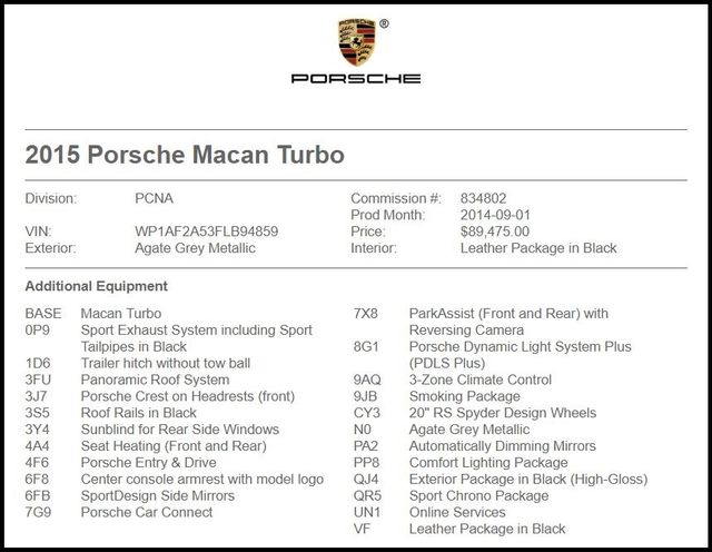 2015 Porsche Macan in Carrollton TX