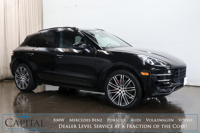 "2015 Porsche Macan Turbo AWD Sport-SUV w/Carbon Fiber Pkg, Panoramic Roof, Nav, BOSE & 21"" Wheel Pkg"