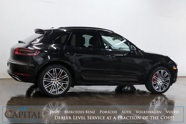 "2015 Porsche Macan Turbo AWD Sport-SUV w/Carbon Fiber Pkg, Panoramic Roof, Nav, BOSE & 21"" Wheel Pkg in Eau Claire, Wisconsin 54703"
