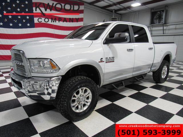 2015 Ram 2500 Dodge Laramie 4x4 Diesel White Leveled New Tires Chrome