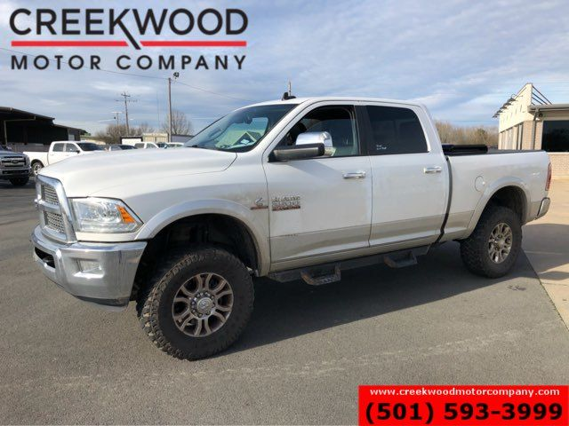 2015 Ram 2500 Dodge Laramie 4x4 Diesel White Leveled New Tires Chrome