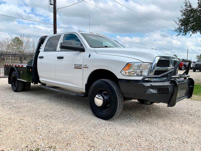 2015 Ram 3500 DRW Tradesman Crew Cab 4X4 6.7L Cummins Diesel Aisin Auto CM Flatbed SK Model in Sealy, Texas 77474