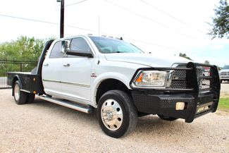 2015 Ram 3500 Laramie Crew Cab 4x4 6.7L Cummins Diesel Aisin Flatbed Dually in Sealy, Texas 77474