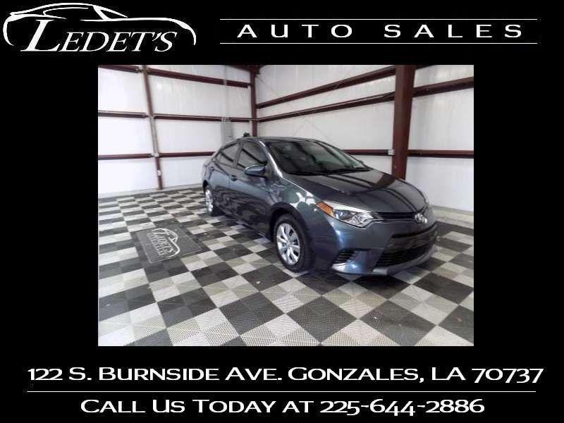 2015 Toyota Corolla LE - Ledet's Auto Sales Gonzales_state_zip in Gonzales Louisiana