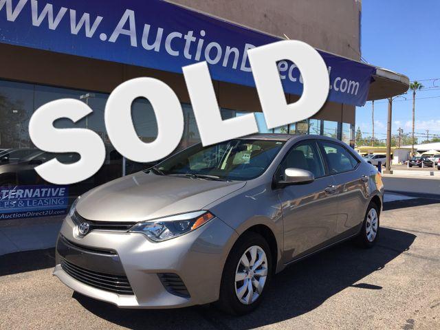 2015 Toyota Corolla LE 5 YEAR/60,000 MILE FACTORY POWERTRAIN WARRANTY Mesa, Arizona