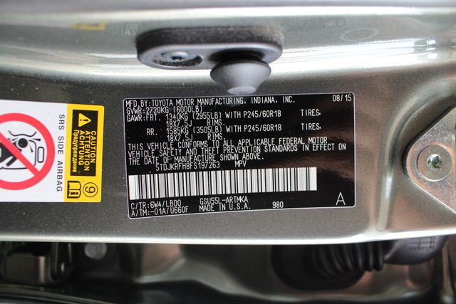 2015 Toyota Highlander XLE AWD Mooresville , NC 54