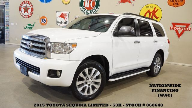 2015 Toyota Sequoia Limited ROOF,NAV,REAR DVD,HTD LTH,QUADS,20'S,53K