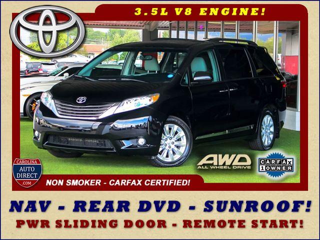 2015 Toyota Sienna XLE Premium AWD - NAVIGATION - REAR DVD - SUNROOF! Mooresville , NC 0