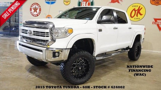 2015 Toyota Tundra CrewMax 1794 4X4 LIFTED,ROOF,NAV,HTD/COOL LTH,BLK 20'S,...
