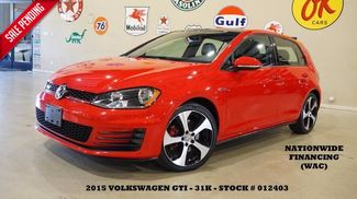 2015 Volkswagen Golf GTI SE AUTO,PANO ROOF,BACK-UP,HTD LTH,FENDER SYS,31K! in Carrollton TX, 75006