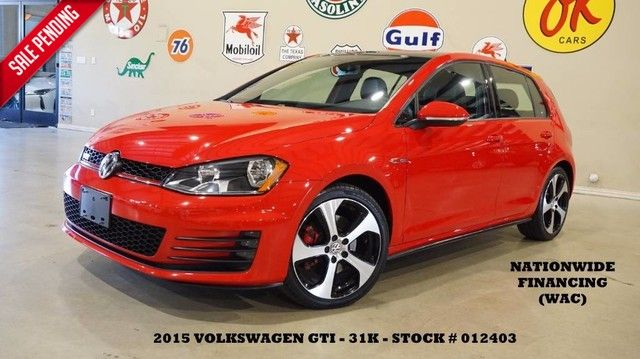 2015 Volkswagen Golf GTI SE AUTO,PANO ROOF,BACK-UP,HTD LTH,FENDER SYS,31K!