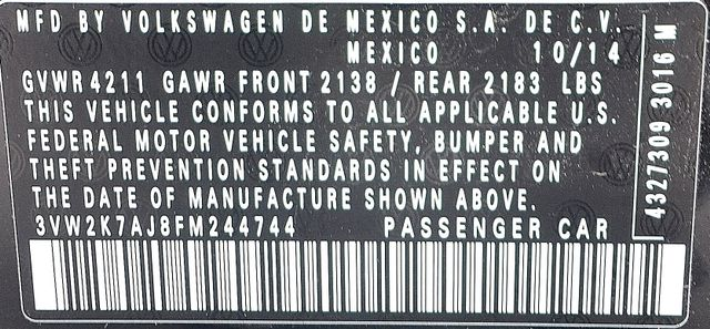 2015 Volkswagen Jetta 2.0L S *SALVAGE TITLE* Reseda, CA 30